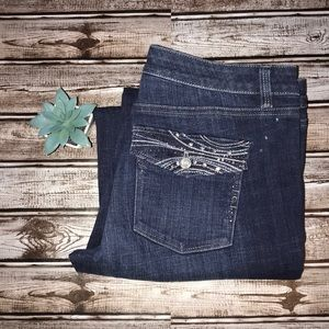 WHBM Bootcut Blanc Embellished Jeans